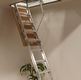 amboss attic aluminum ladder